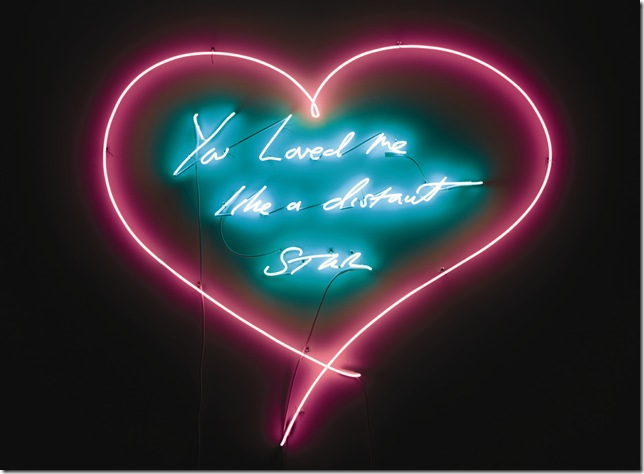 You Loved Me Like a Distant Star (2012), by Tracey Emin (Courtesy of the artist and Lehmann Maupin), showing at the Museum of Contemporary Art beginning Dec. 4.