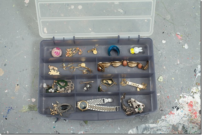 Cristina Lei Rodriguez's box of her own jewelry including her childhood name bracelet. (Photo © Sarah Trigg)