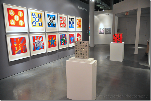 Works by Robert Indiana, at Rosenbaum Contemporary in Boca Raton. (Photo by Anthony Jordon)