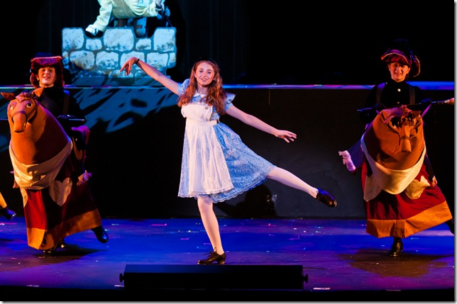 Emily Rynasko as Alice in Through the Looking Glass.
