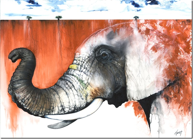 Red Elephant (2011), by Anthony Burks.
