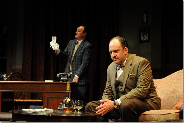 Todd Allen Durkin (left) as Tony, and Gregg Weiner in Dial M for Murder.