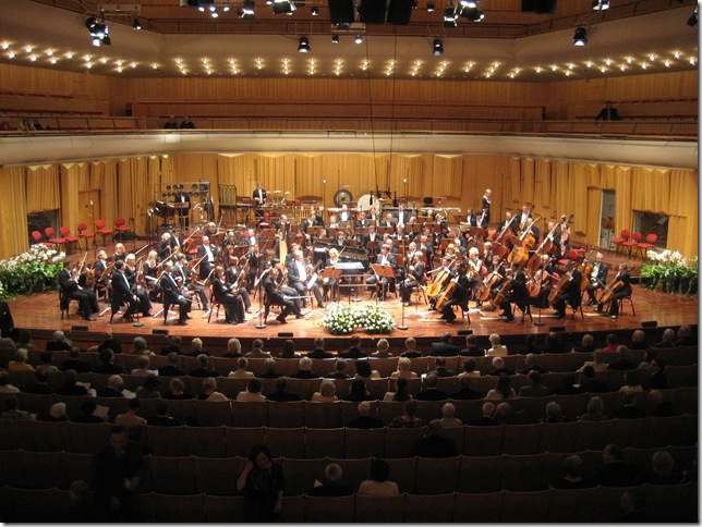 The Estonian National Symphony Orchestra, photographed in Stockholm in 2008.