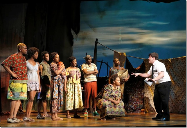 A scene from The Book of Mormon. (Photo by Joan Marcus)