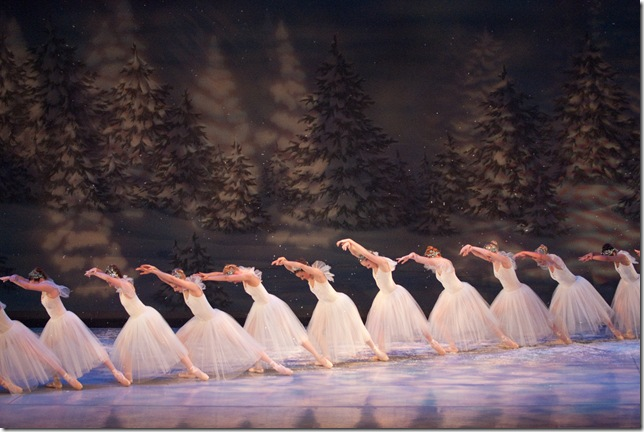 The Snowflakes, in Ballet Palm Beach's performance of The Nutcracker.