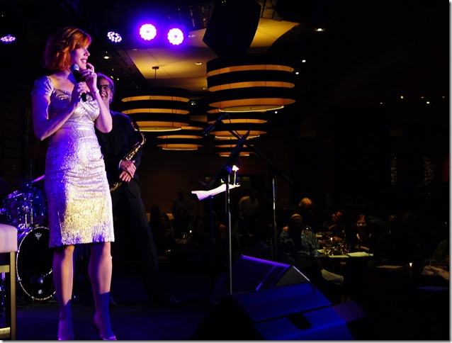 Molly Ringwald at Jazziz Nightlife. (Photo courtesy Michael Fagien)
