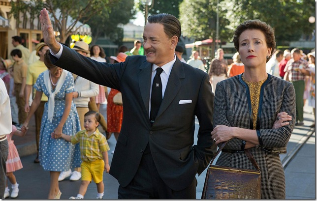 Tom Hanks and Emma Thompson in Saving Mr. Banks.