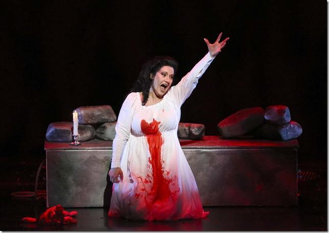 Csilla Boross as Lady Macbeth.
