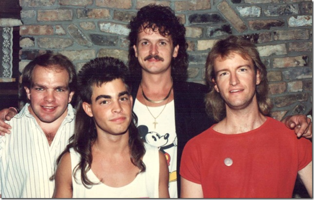 From left: JohnSmotherman, Jonathan Grooms, Gary Kern and Bill Meredith, of Lite-N-Up, circa 1990.