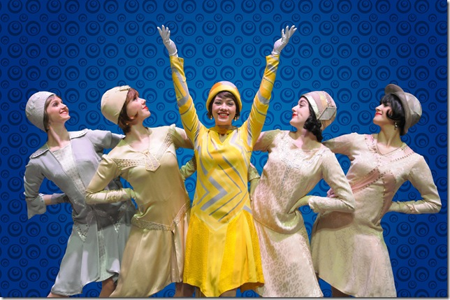 """Laurie Veldheer (center) in the Maltz Jupiter Theatre's production of """"Thoroughly Modern Millie."""" Both the show and Veldheer are up for Carbonell awards. (Photo by Alicia Donelan)"""