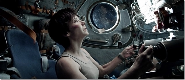 Sandra Bullock in Gravity.
