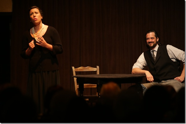 "JoAna Rusche and Peter Tomaszewski in ""Our Town."""