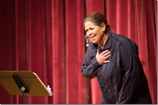 "Anna Deavere Smith presents ""Reclaiming Grace in the Face of Adversity"" Tuesday at the Boca Raton Cultural Arts Center. (Sherry Ferrante Photography)"