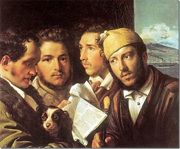 Readers of Newspapers in Naples (1831), by Orest Kiprensky.
