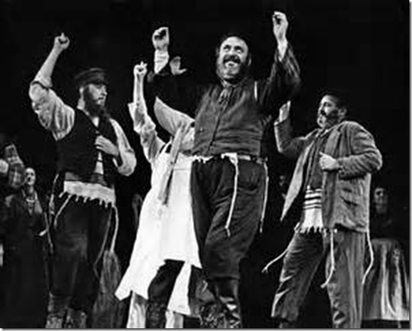 "Zero Mostel in ""Fiddler on the Roof."" (1964)"