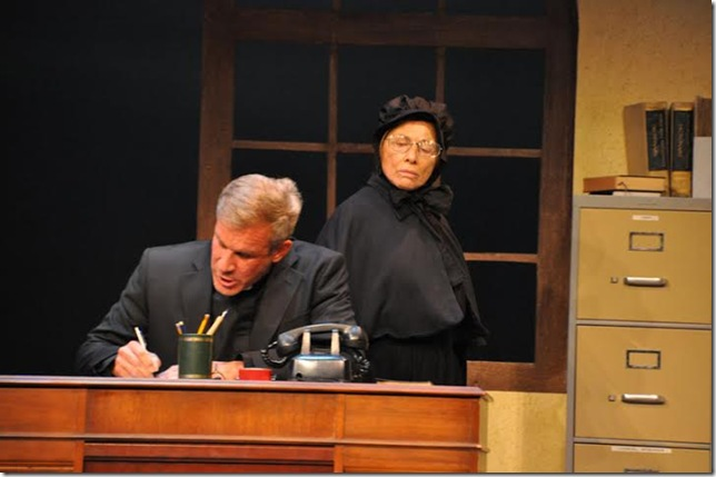"""Tom Gregory and Jerri Iaia in """"Doubt"""" at the Delray Beach Playhouse."""