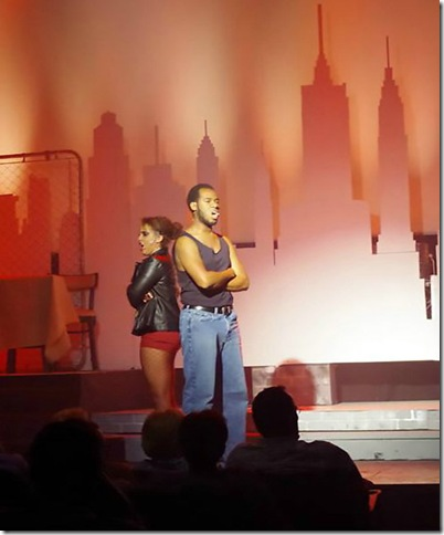 "Jasmine Maslanova-Brown and Andre Russell in the Delray Square Performing Arts Center's production of ""The Life."" (Photo by Elle Cigana)"