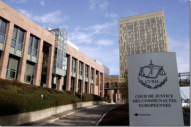 """The Court of Justice of the European Union in Luxembourg, where Mario Casteja González won the """"right to be forgotten"""" by Google earlier this year"""