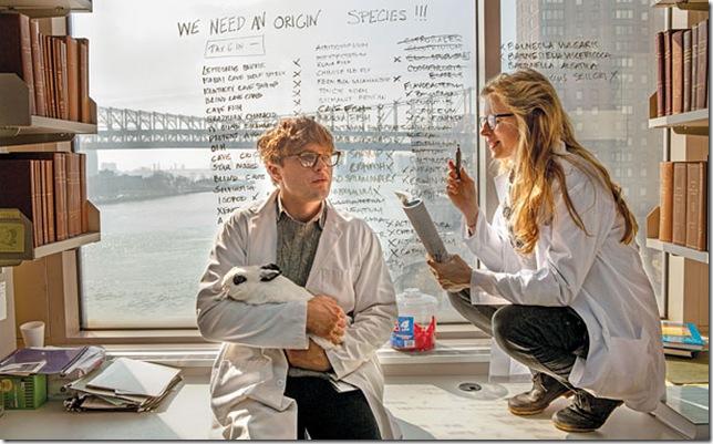 Michael Pitt and Brit Marling in I Origins. (Photo by Jelena Vukotic)