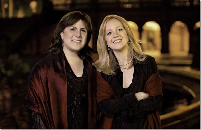 Dawn Upshaw (left) and Maria Schneider.