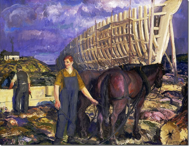 The Teamster (1916), by George Bellows.