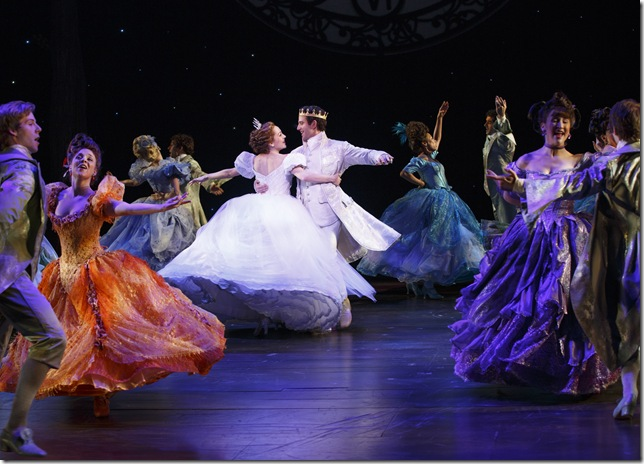 """Laura Osnes, Santino Fontana and cast in """"Cinderella,"""" coming to the Kravis Center Nov. 11-16 after a run at the Arsht Center from Oct. 28 to Nov. 2."""