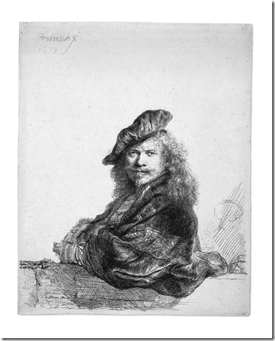 Rembrandt Leaning on a Stone Still (1639), by Rembrandt van Rijn, coming to the Norton Museum of Art beginning Nov. 5.