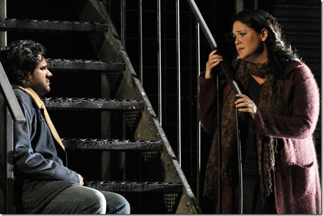 "Keri Alkema with Atalla Ayan in ""La Bohème"" at Glyndebourne, 2011."