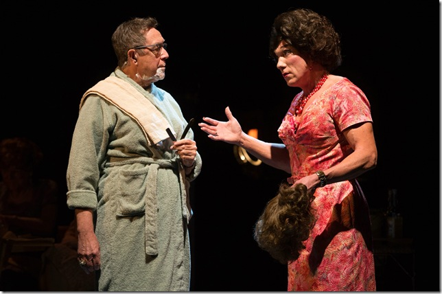 """Larry Pine and Patrick Page in the 2014 Broadway production of """"Casa Valentina."""" (Photo by Matthew Murphy)"""