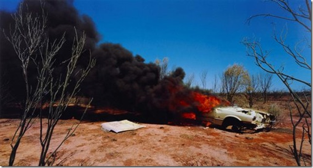 """One Dozen Unnatural Disasters in the Australian Landscape, No. 2"" (2003), by Rosemary Laing."