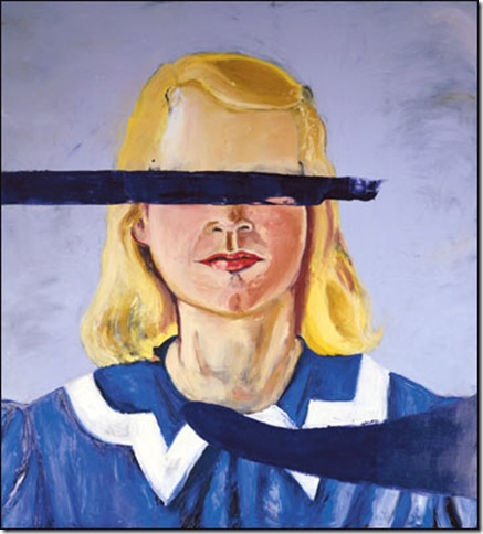 """Large Girl With No Eyes"" (2001), by Julian Schnabel."