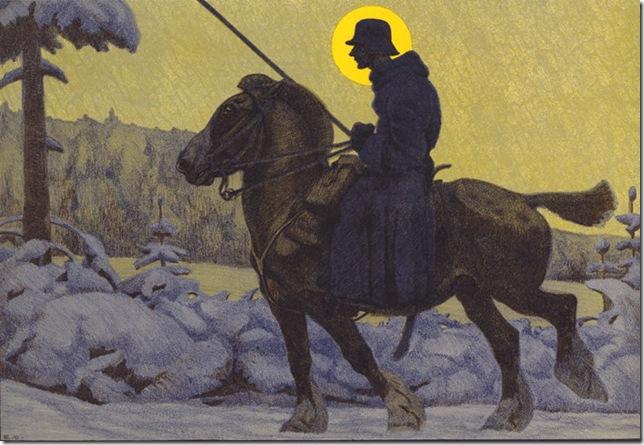 """""""St. George, Messenger"""" (c. 1918), by Eugen Osswald."""