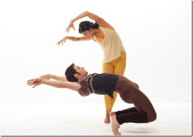 "Parisa Khobdeh and Robert Kleinendorst in Paul Taylor's ""American Dreamer."" (Photo by Tom Caravaglia)"