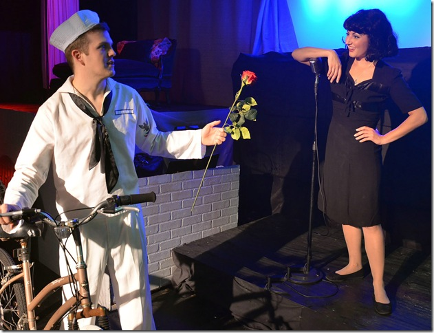 "Justin Schneyer and Victoria Lauzun in ""Piaf,"" at the Delray Square Performing Arts Center. (Photo by Phil Hinton)"