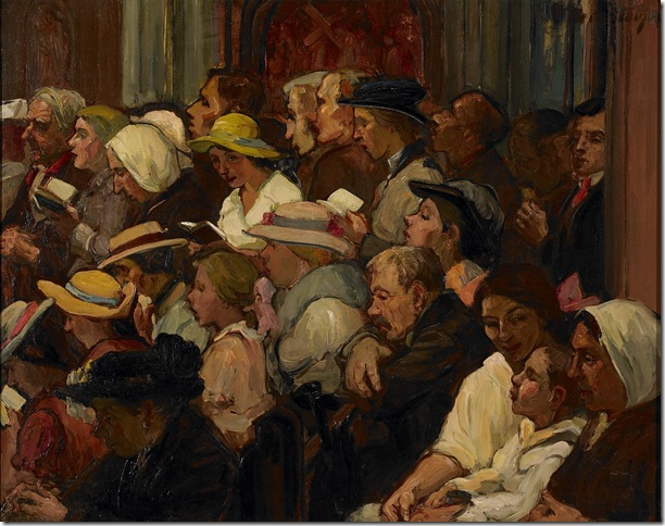 """Easter Morning: Polish Church"" (1916), by Theresa Bernstein."