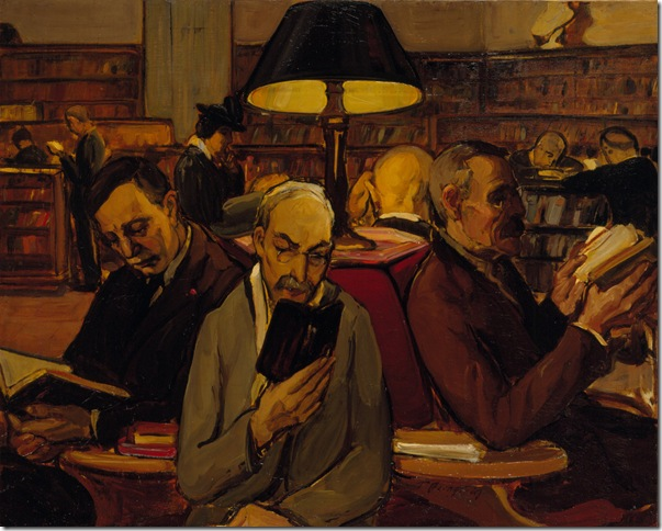 """The Readers"" (1914), by Theresa Bernstein."