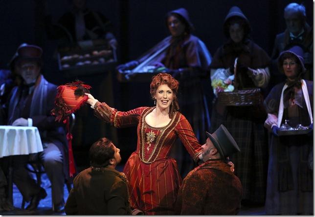 """Ellie Dehn as Musetta in """"La Bohème."""""""