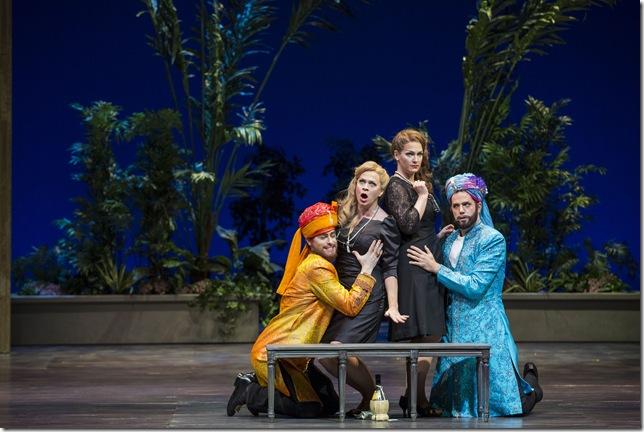 "Jason Slayden, Sari Gruber, Brenda Patterson and Jonathan Beyer in ""Così fan Tutte."" (Photo by Rod Millington)"