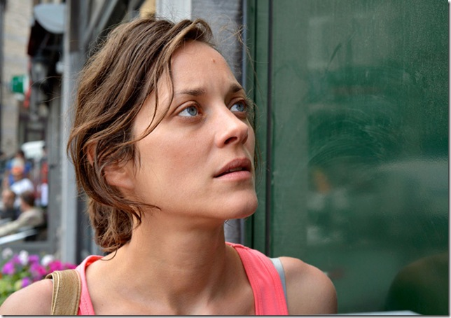"Marion Cotillard in ""Two Days, One Night."""
