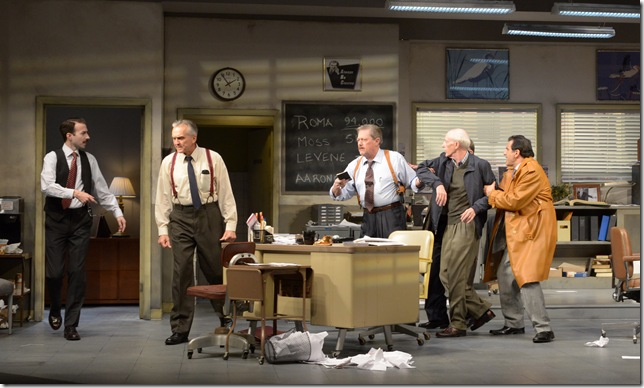 "Cliff Burgess, Peter Galman, Kenneth Kay, Dan Leonard Peter Allas in ""Glengarry Glen Ross."" (Photo by Alicia Donelan)"
