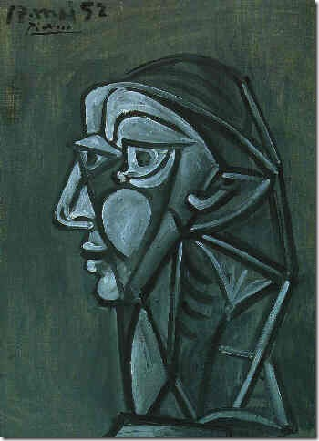 Head of a Woman (Françoise Gilot) (1952), by Pablo Picasso.