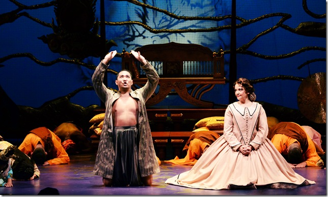 """Wayne Hu and Michele Ragusa in """"The King and I."""" (Photo by Alicia Donelan)"""