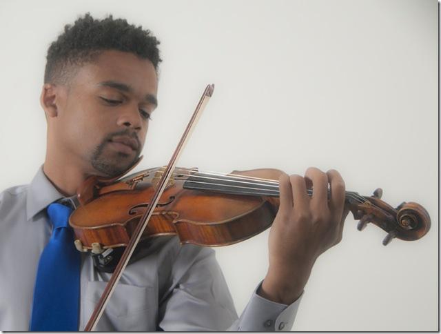 Violinist Gareth Johnson.