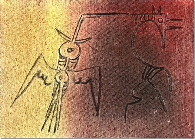 Untitled (Bird and Beast) (1974), by Wilfredo Lam.