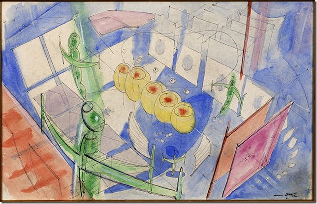 Untitled (Architectural), by Roberto Matta.