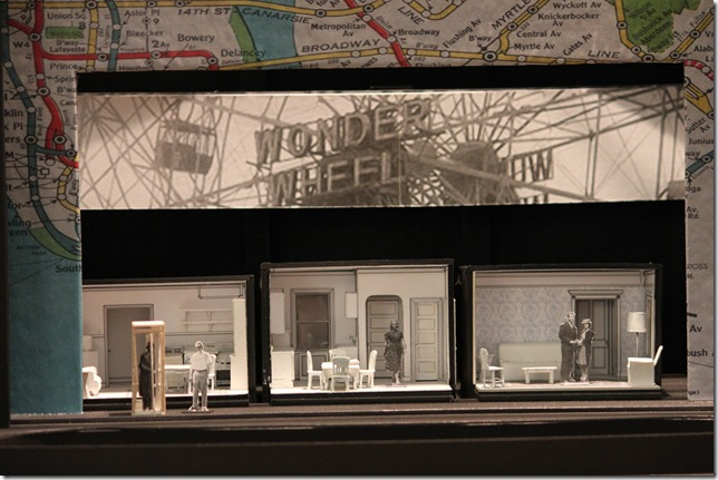 A mockup of the set design for 'Enemies,' by Allen Moyer.