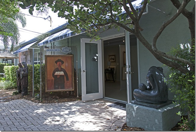 The exterior of Ford Fine Art in Delray Beach.