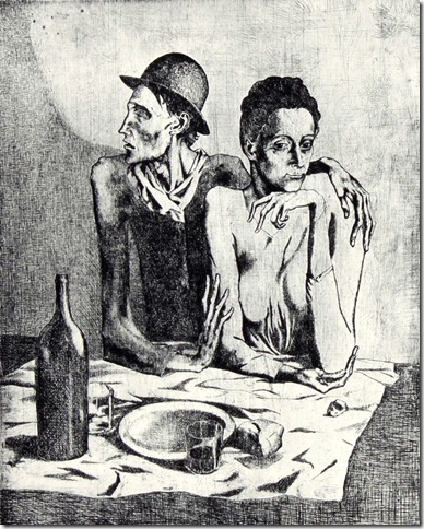 The Frugal Repast (1904), by Pablo Picasso.