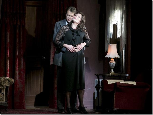 "Leann Sandel-Pantaleo and Daniel Okulitch in ""Enemies, a Love Story."""