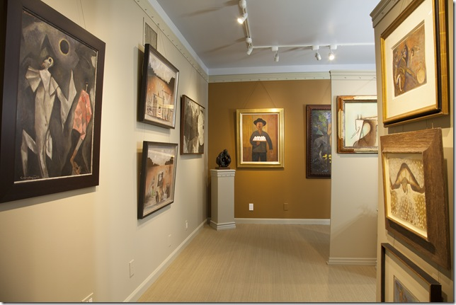 The interior of Ford Fine Art in Delray Beach.